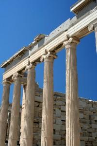 Acropolis, Parthenon temple detail, Athens
